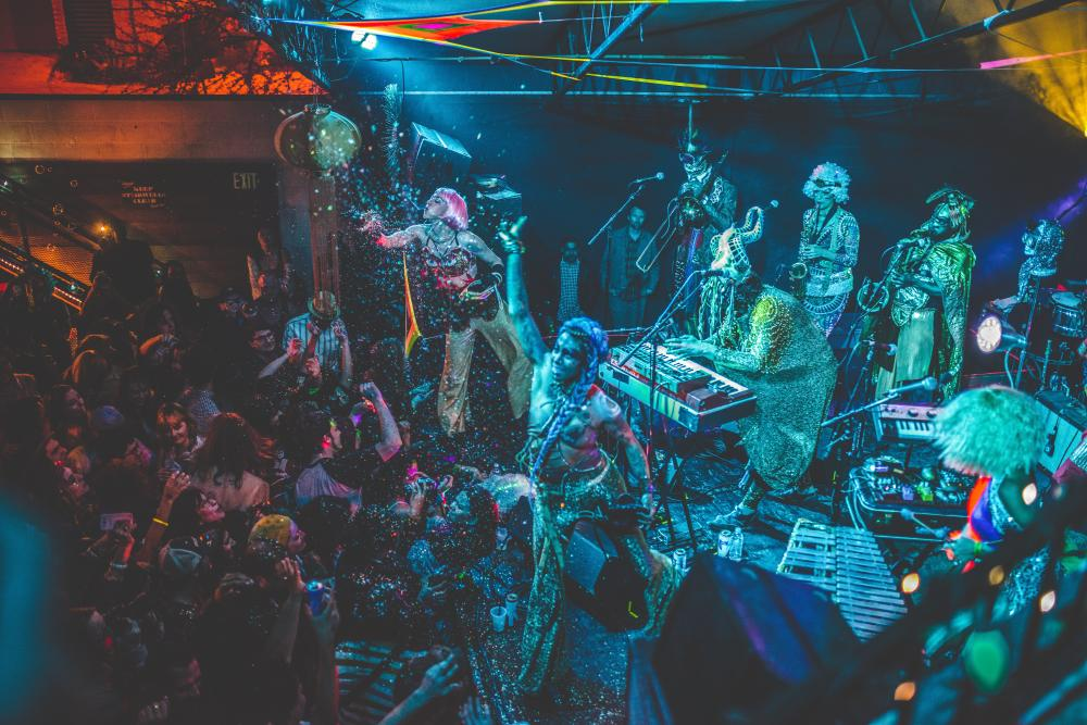 Golden Dawn Arkestra band performing live in austin texas