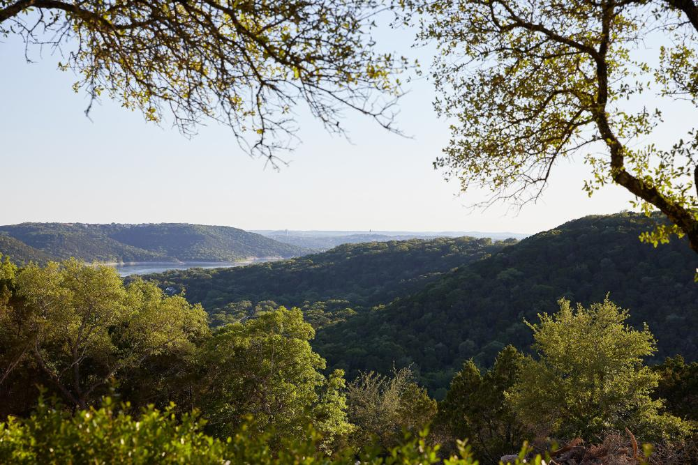 View from the Grounds at Miraval resort and spa in Austin texas
