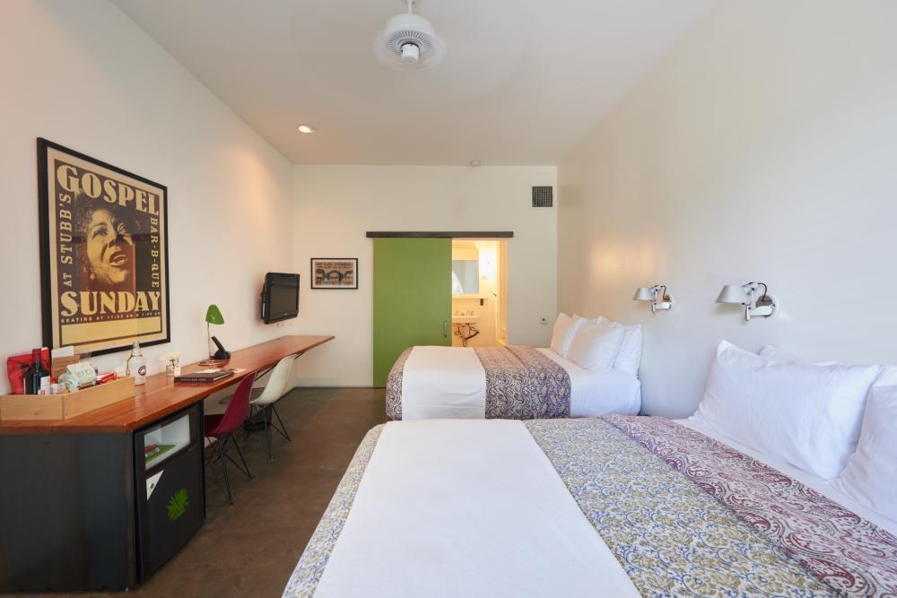 Hotel San Jose double queen room in Austin Texas