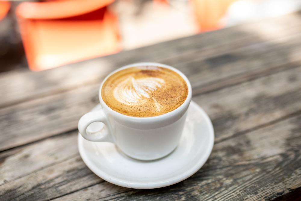 pumpkin spice latte frrom Jos Coffee in austin texas