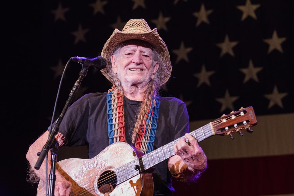 Willie Nelson performs at 4th of July Picnic Circuit of The Americas in austin texas