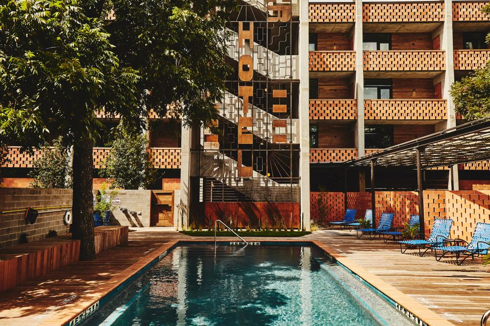 The Carpenter Hotel pool in austin texas