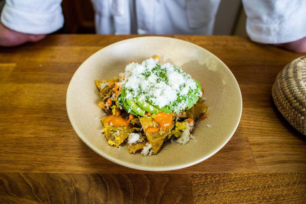 Migas by Chef Fermin Nunez of Suerte