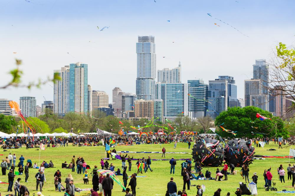 ABC Kite Festival at zilker park in austin texas