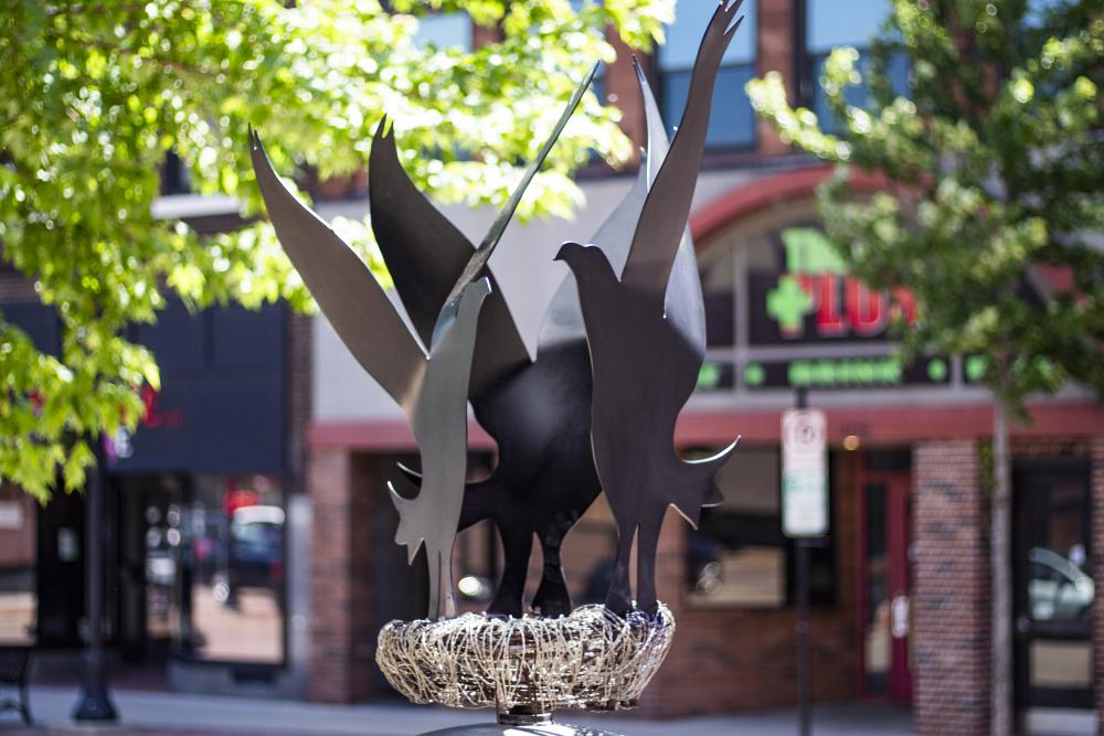 Created by Mel Sundby and Mark Blaskey, 'Three Thieves' can be found in downtown Eau Claire.