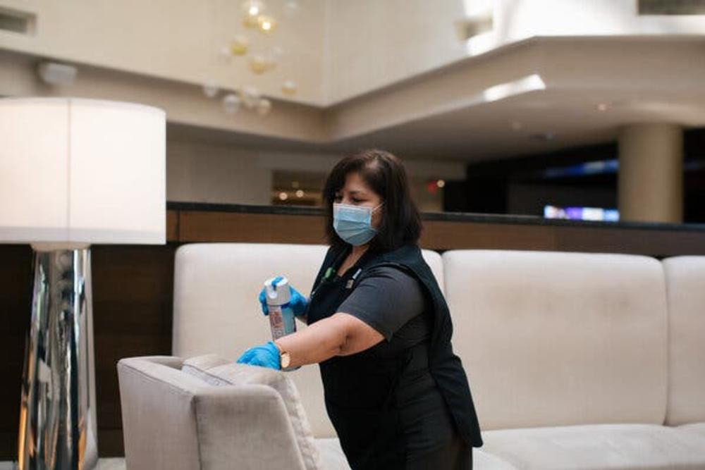 Masked Staff Member