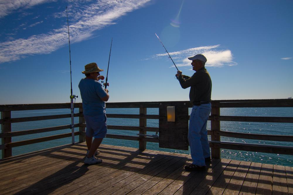Fishermen in Flagler Beach