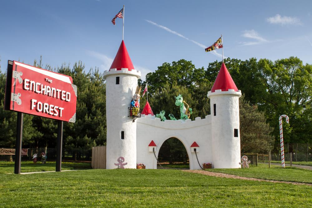 The Enchanted Forest Castle at Clark's Elioak Farm