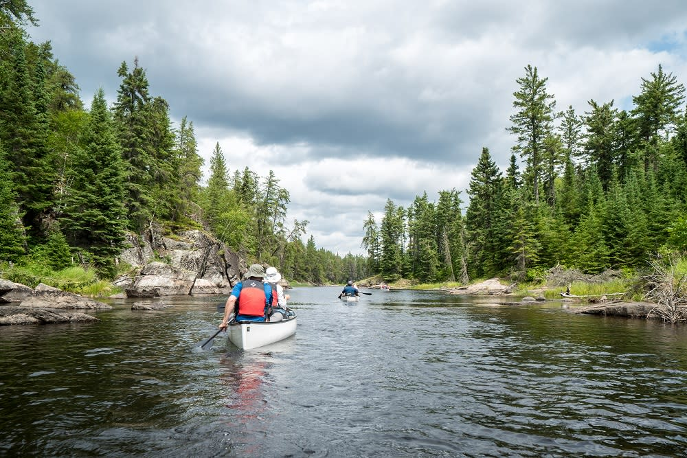 Paddling in Nopiming Provincial Park