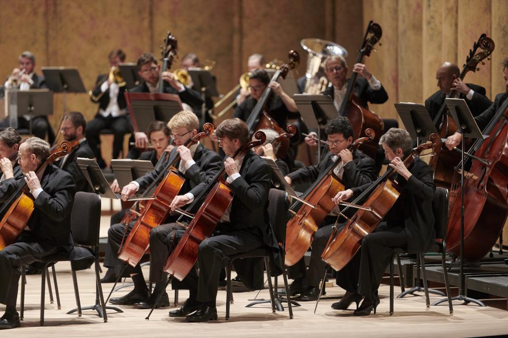Richmond Symphony Orchestra strings section