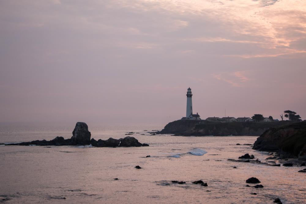 Pigeon_Point_Lighthouse_sunset_by_LudmilaHofman