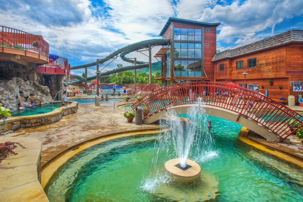 Old Town Hot Springs is conveniently located in downtown Steamboat Springs, Colorado