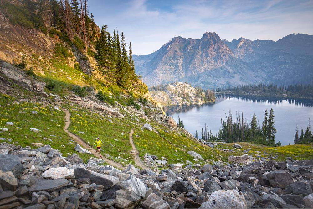 Gilpin Lake is located outside of Steamboat Springs in the Zirkel Wilderness