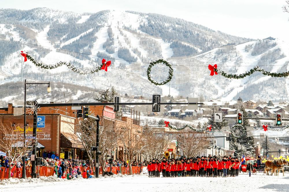 Steamboat Springs Winter Carnival Skiing Band