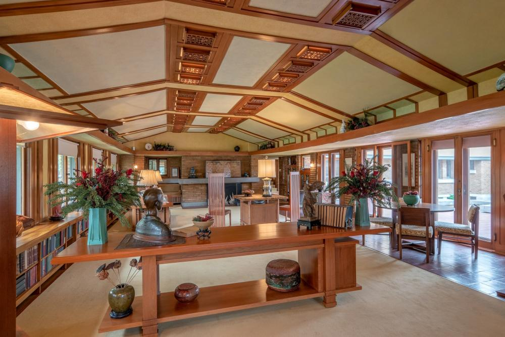 Frank Lloyd Wright Allen House Living Room
