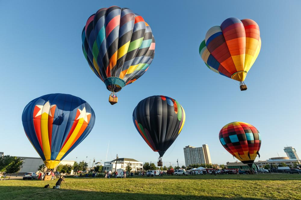 Hot Air Balloons Launch in Wichita