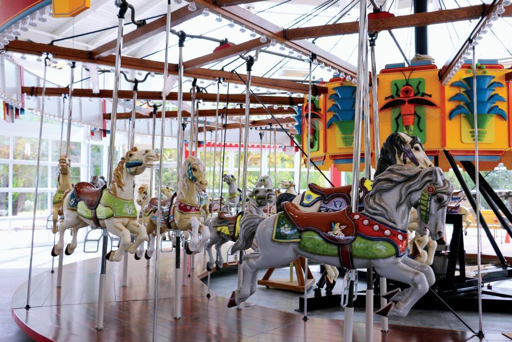Restored Joyland Carousel at Botanica Wichita