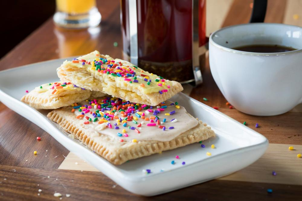 Homemade poptarts on a plate at Homegrown Wichita