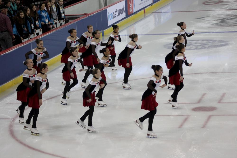 Synchronized Skating for the MidPac Championships