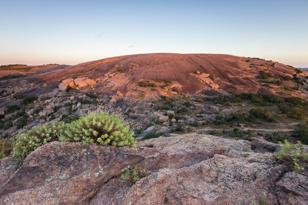 Sunrise at Enchanted Rock State Park near Austin Texas
