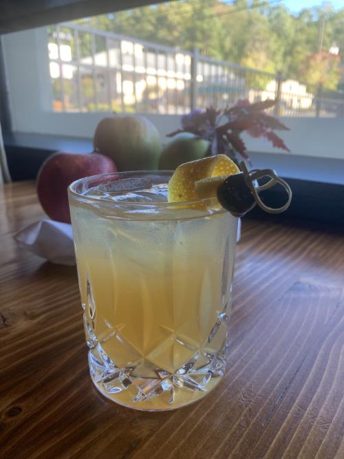 home.made apple cider old fashioned