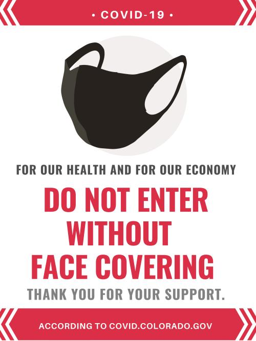 COVID-19 Face Covering sign