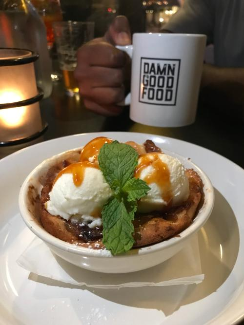 Apple and Pear Cobbler with Vanilla Ice Cream - Acme Food & Beverage