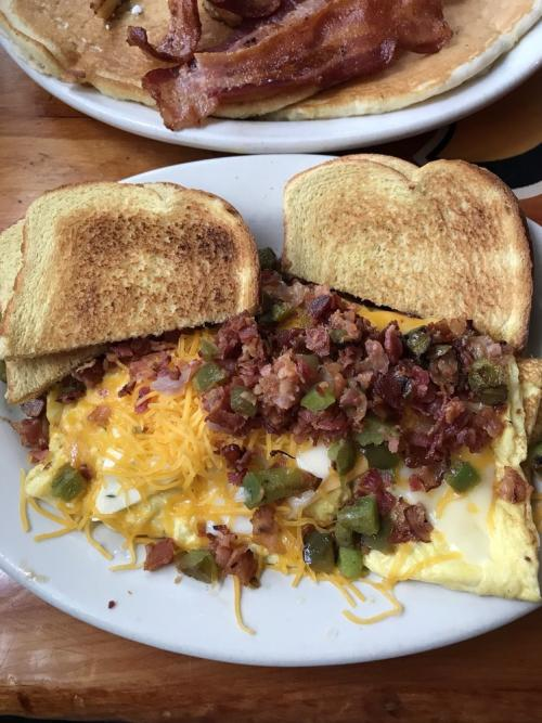 A plate omelette with toast at Tank's Bar & Grill in Dayton, OH