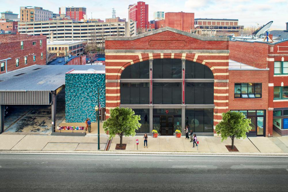 An artist rendering of the new Center for Craft opening in Asheville, NC in November 2019