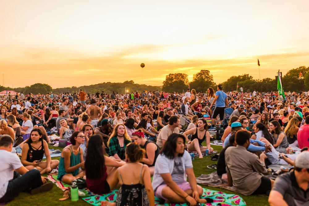 Blues on the Green hosted by ACL Radio at zilker park in austin texas