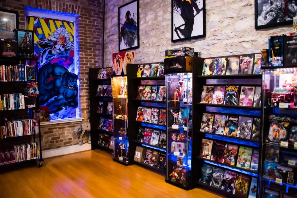 Hops and Heroes comic book store in austin texas