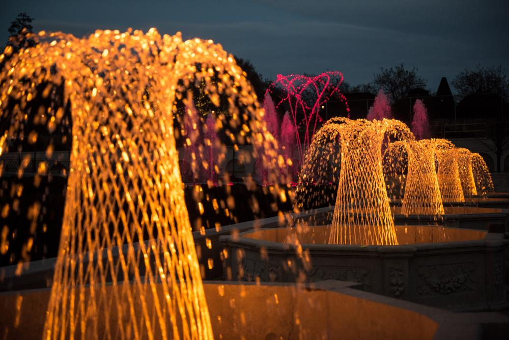 Longwood Gardens Fountains At Night