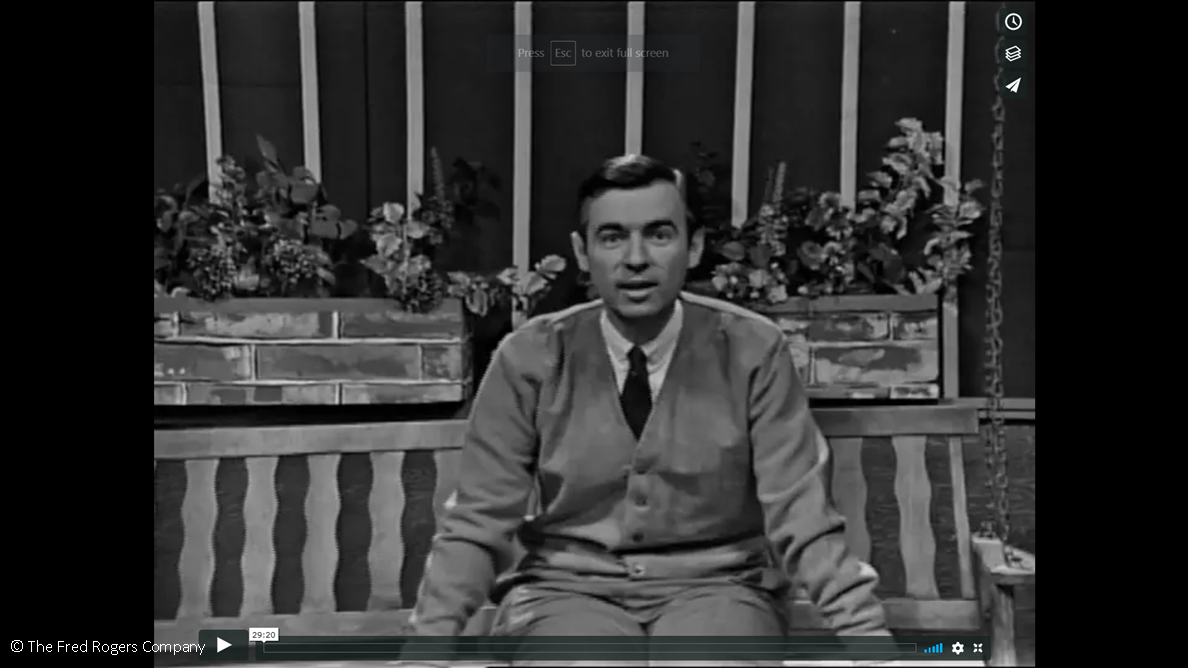 Fred Rogers first episode