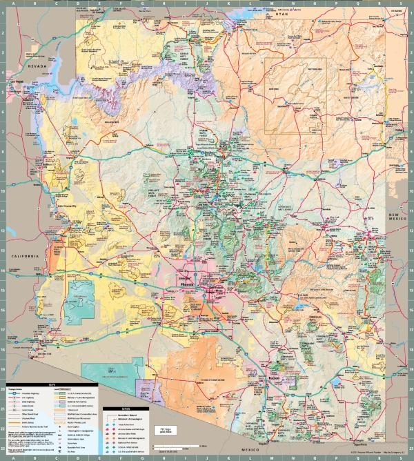 Arizona State Map - Mesa, Arizona Maps - Mesa AZ