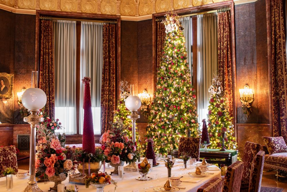The Breakfast Room is a highlight on the Christmas at Biltmore tour.
