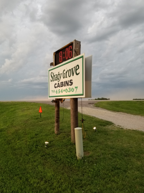 Shady Grove Cabins Entrance | Downs, Kansas