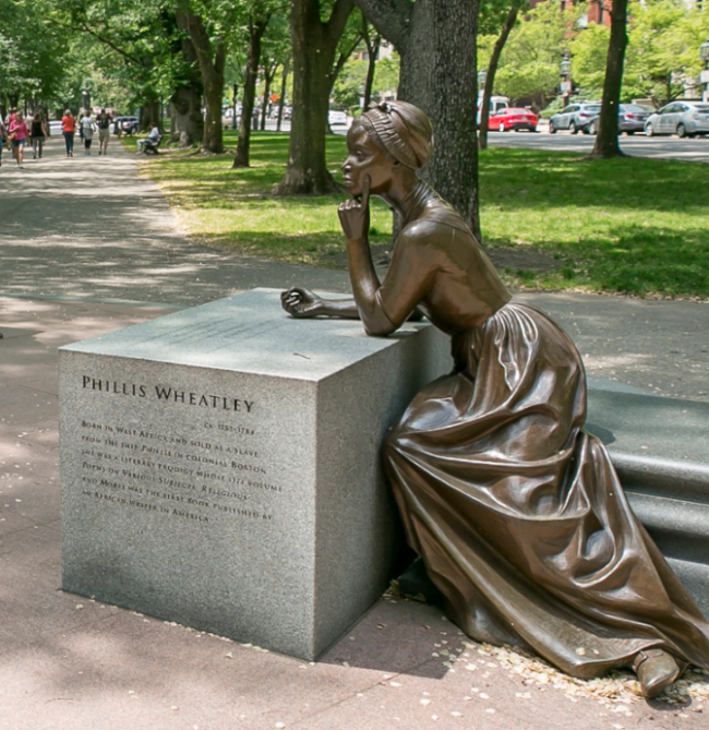 Phillis Wheatley statue