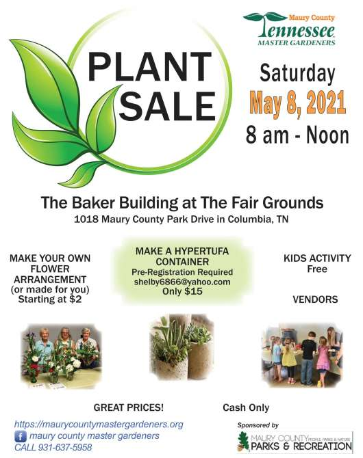 Maury County Master Gardeners Annual Plant Sale