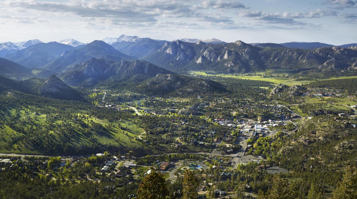 Village of Estes Park from Above