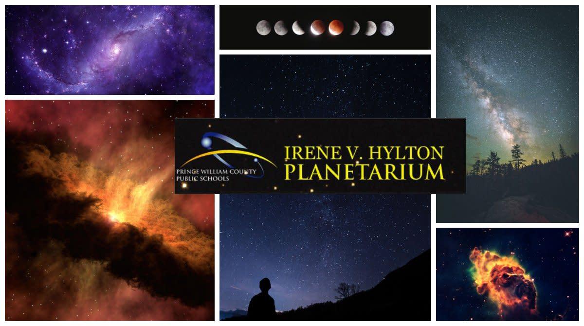 cosmos scenes on a planetarium dome