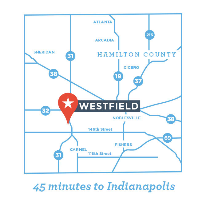 Westfield Indiana Map