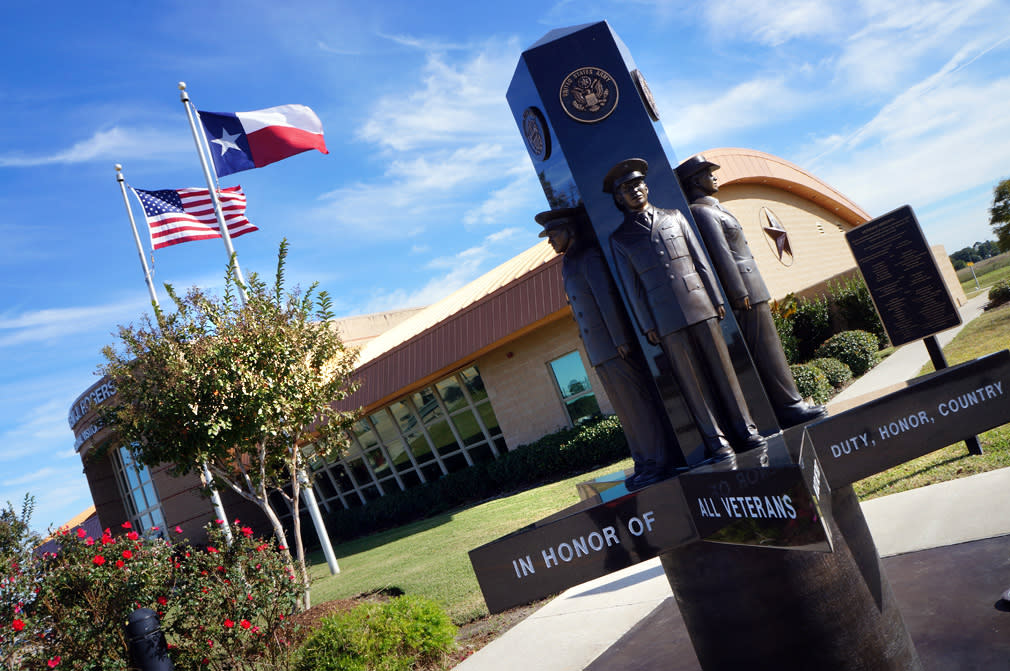 Veterans Monument at Ben J. Visitors Center
