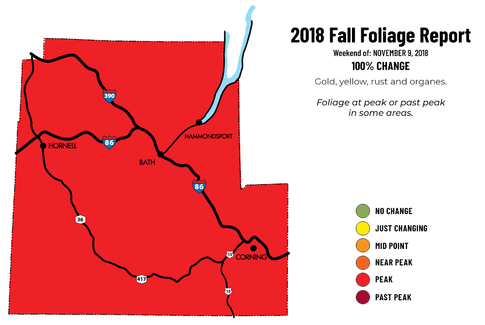 Foliage Map New York 2017.Fall Foliage In The Finger Lakes Finger Lakes Region