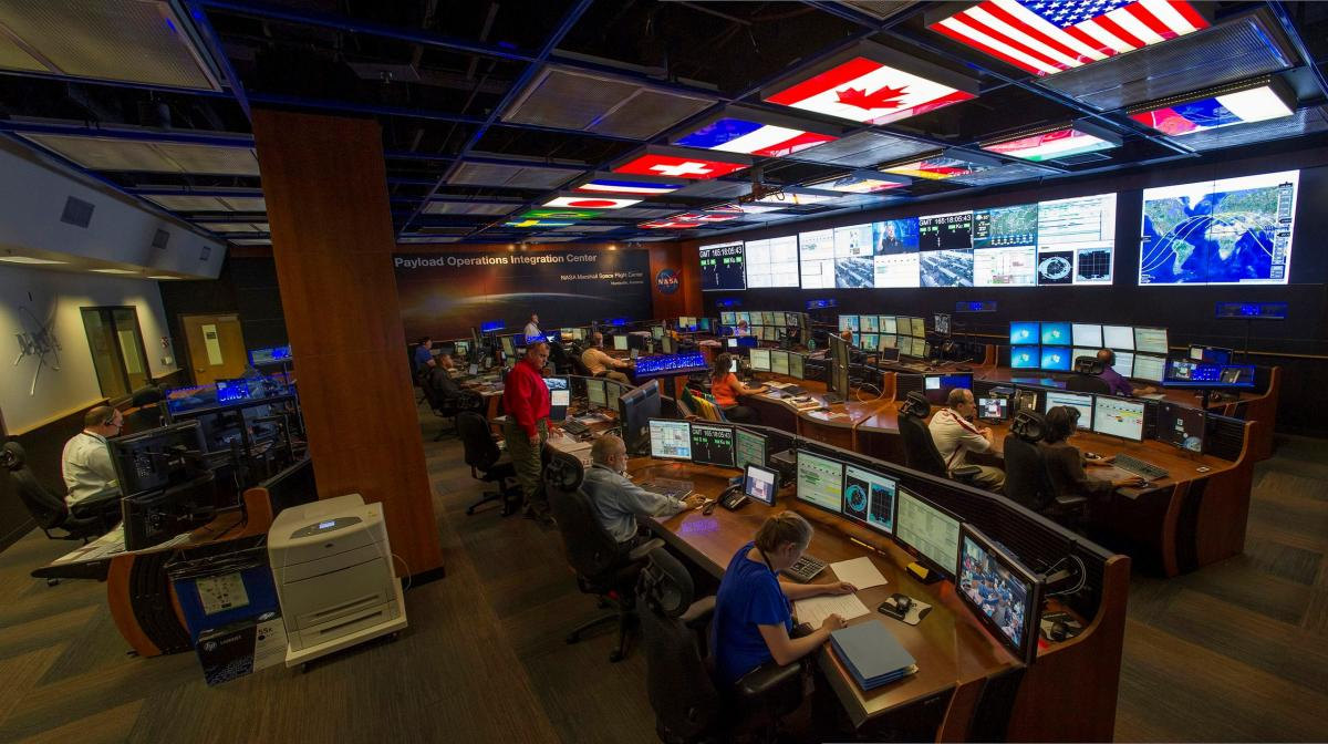 Mission Control  at MSFC ISS Marshall Space Flight Center