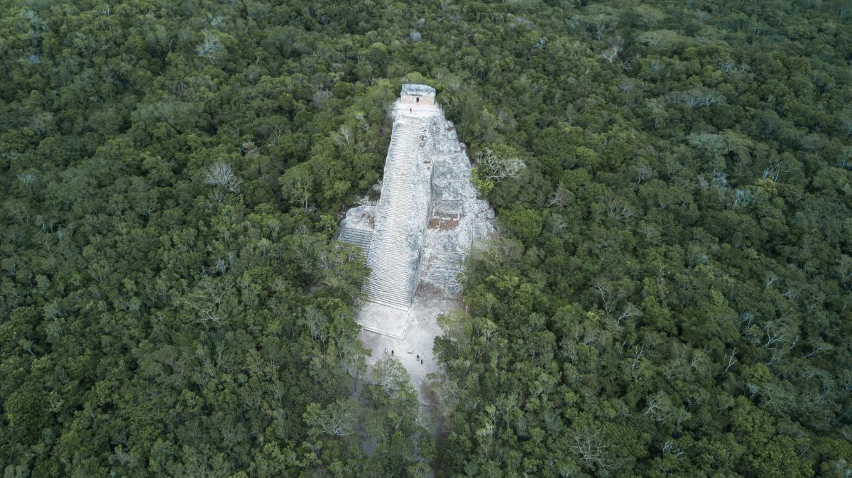 Coba Ruins Aerial