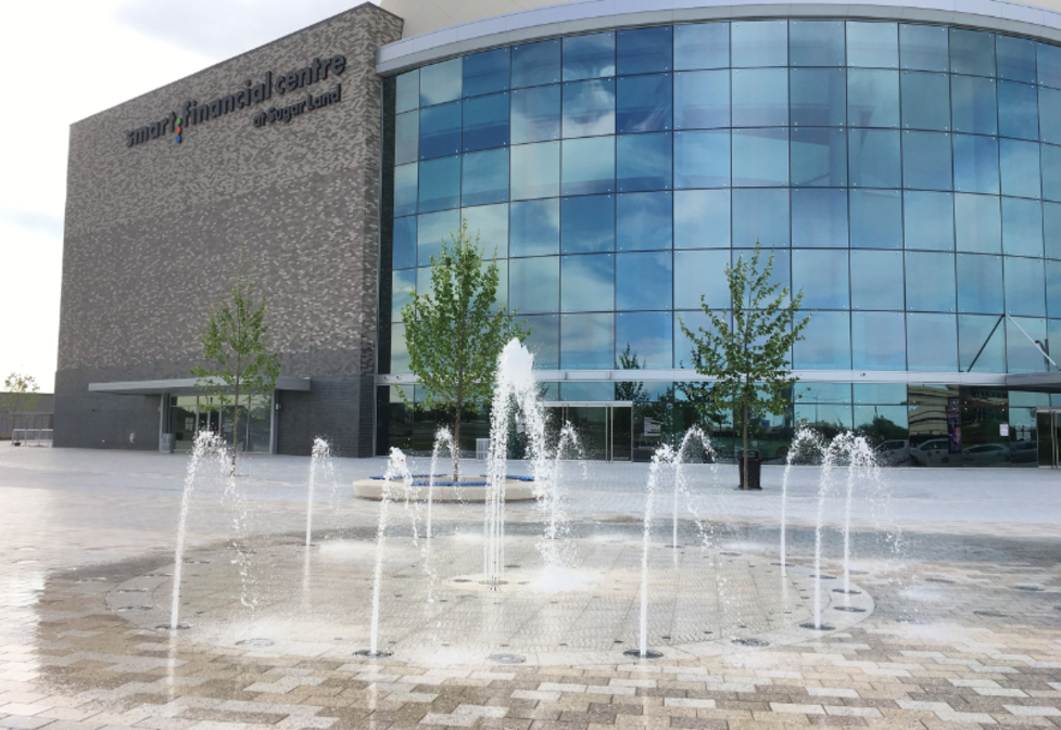 Splash Pad at the Plaza adjacent to Smart Financial Centre