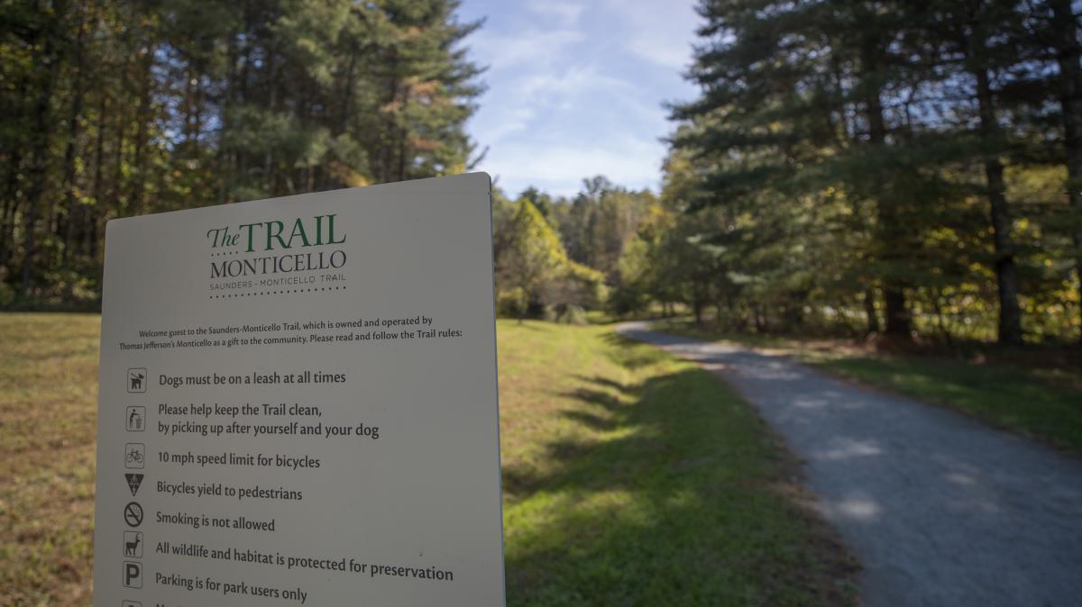 Monticello Trail Sign