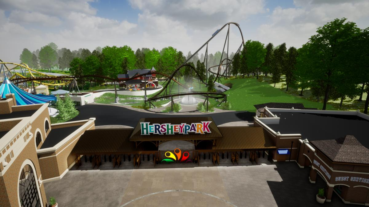 Candymonium Coaster Rendering at HP 2020