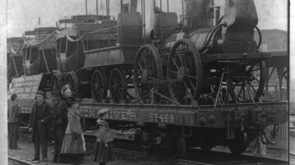 First Engine and Train in America
