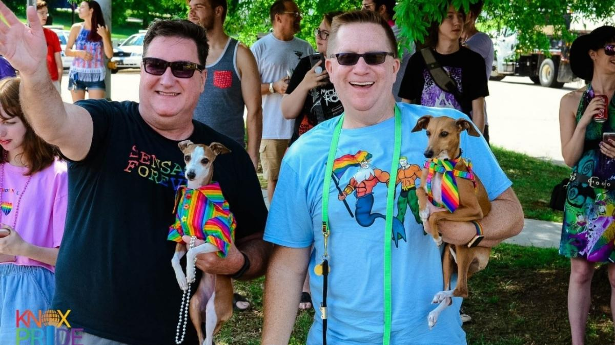 Pride spectators with their pets courtesy of Taryn Ferro